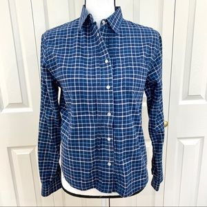Lauren Ralph Lauren button down plaid blouse